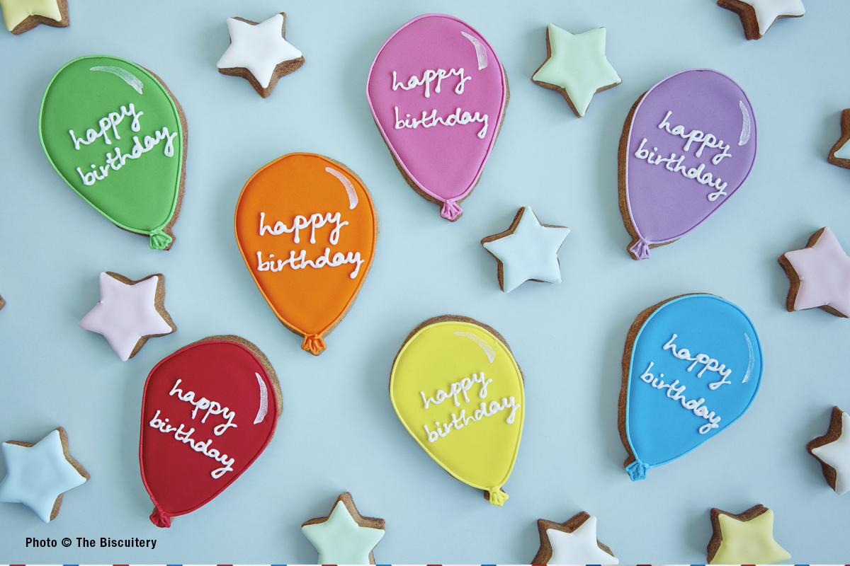 Birthday Balloons and Stars
